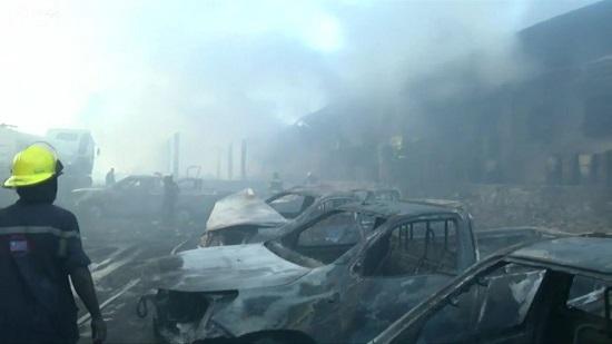 Le bâtiment qui abritait les machines à voter dans le centre-ville de Kinshasa a été complètement réduit en cendres | RDBF