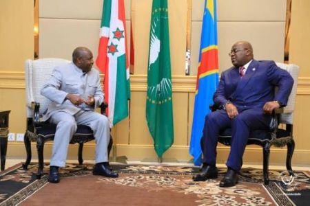 Les Présidents Félix-Antoine Tshisekedi et Evariste Ndayishimiye
