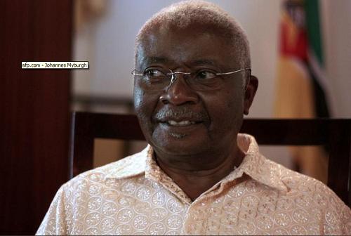 Armando Guebuza, le 30 octobre 2013 à Chimoio, au Mozambique afp.com - Johannes Myburgh