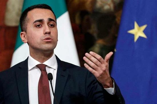 Le vice-président du conseil italien, Luigi Di Maio, lors d'une conférence de presse le 17 janvier 2019. Riccardo Antimiani / AP