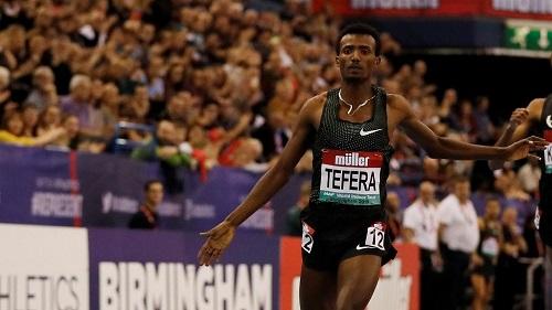 L'Ethiopien Samuel Tefera bat le record du monde du 1500 m en salle
