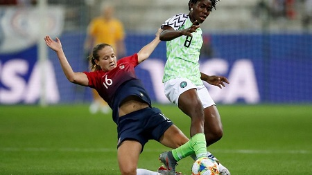 Les Super Falcons du Nigeria Battues 3 – 0 par la Norvège lors de leur premier match de poule de Coupe du monde féminine 2019