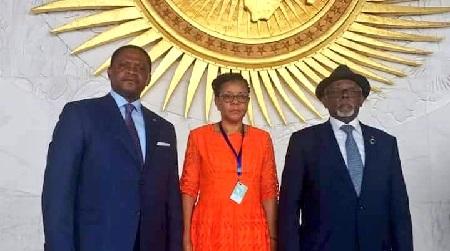 La délégation camerounaise aux travaux de l'Organisation Continentale africaine
