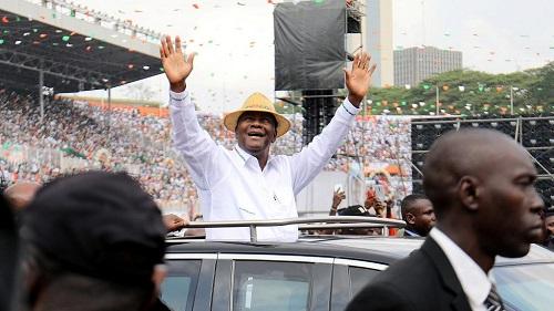 L'actuel président ivoirien, Alassane Ouattara