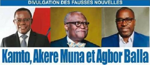 Pas porté plainte contre Maurice Kamto, Akere Muna et Agbor Balla