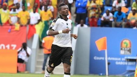 Asamoah Gyan, le meilleur buteur de l'histoire du Ghana, a ouvert le score de la tête contre le Mali dans le deuxième match des Black Stars dans la CAN 2017. Pierre René-Worms