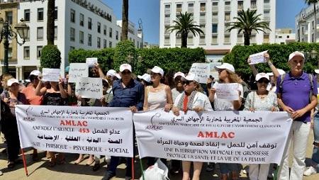 Manifestation contre la loi sur l'avortement, à Rabat, le 25 juin 2019 (illustration). © AFP