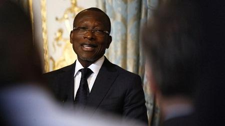 Patrice Talon (notre photo) a assuré que Boni Yayi était un ami. «Je ne lui veux aucun mal», a indiqué l'actuel chef de l'État. © Etienne LAURENT / POOL / AFP