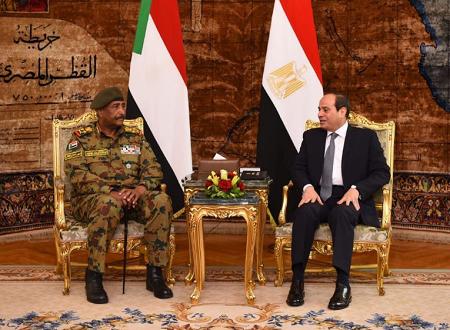 Le général Abdel Fattah Burhan, chef du Conseil militaire de transition au Soudan a été reçu par le chef de l'État égyptien et président de l'Union africaine Abdel Fattah al-Sissi. Photo: TMCSudan