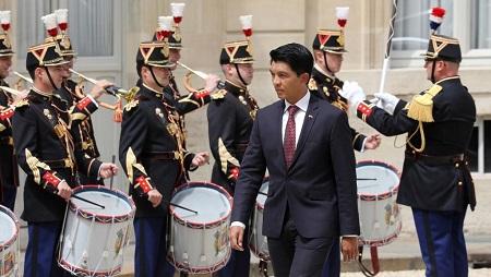 Le président malgache Andry Rajoelina lors de sa visite officielle à l'Élysée le 29 mai 2019. © Ludovic MARIN / AFP