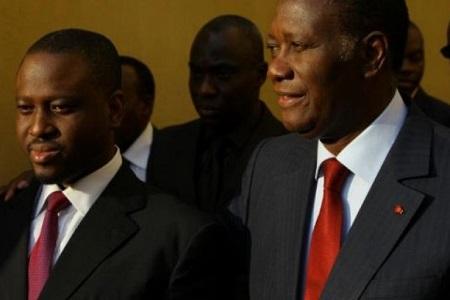 Le président Alassane Ouattara et Guillaume Soro (Illustration)