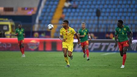 Le Béninois Steve Mounié lors de la CAN 2019. OZAN KOSE / AFP