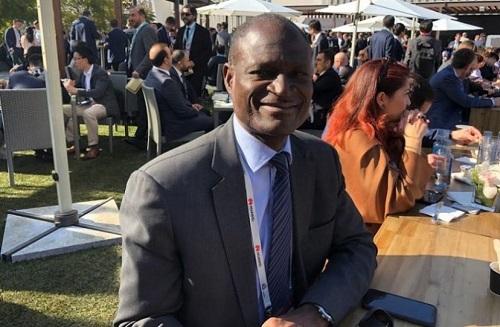 Alain Noël Mekulu Mvondo Akame, DG de la Caisse nationale de prévoyance sociale (CNPS) au World Mobile Congress de Barcelone