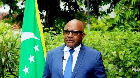 Le président des Comores Azali Assoumani, réélu en mars pour cinq ans