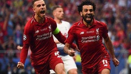 L'Egyptien Mohamed Salah buteur en finale de la Ligue des champions avec Liverpool face à Tottenham. GABRIEL BOUYS / AFP