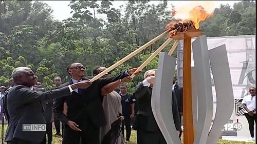 Paul Kagame. Le président de la commission de l'Union africaine Moussa Faki Mahamat