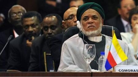 L'ancien président des Comores, Ahmed Abdallah Mohamed Sambi. AFP / Juan Barreto