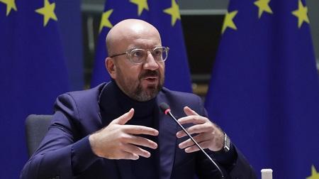 Charles Michel le 10 novembre 2020 à Bruxelles lors d'un sommet européen sur le terrorisme lié à l'islam radical. © Olivier HOSLET Source: AFP