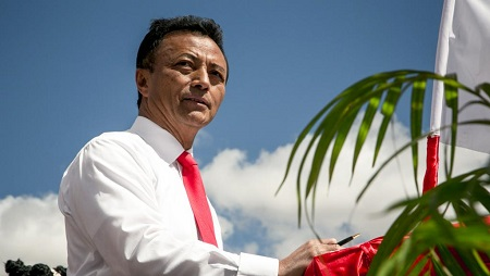 L'ex-président de Madagascar Marc Ravalomanana, le 25 août 2018. © RIJASOLO / AFP