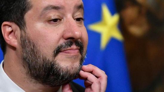 Le ministre de l'Intérieur italien Matteo Salvini lors d'une conférence de presse à Rome, le 17 janvier 2019. AFP/Alberto Pizzoli