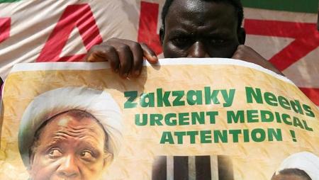 Abuja, le 26 janvier 2018. Un partisan du cheikh Zakzaky demande la libération du leader chiite. © REUTERS/Afolabi Sotunde/File Photo