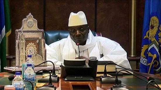 L'ancien président gambien Yahya Jammeh. GRTS via AFP