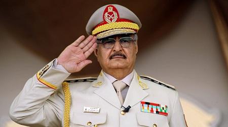 Le maréchal Khalifa Haftar en mai 2018 (image d'illustration).  © Abdullah DOMA Source: AFP