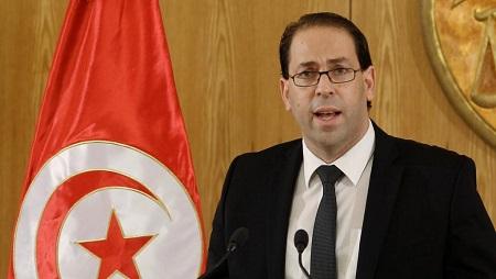 Le Premier ministre tunisien Yousseff Chahed, à Tunis. © REUTERS/Zoubeir Souissi