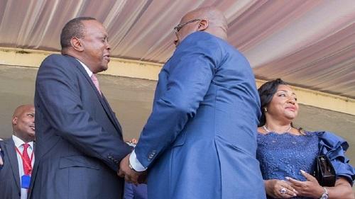 Le président kényan Uhuru Kenyatta et le nouveau président, Félix Tshisekedi