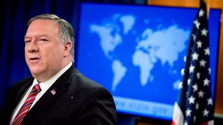 Le secrétaire d'État américain Mike Pompeo à Washington, le 29 avril 2020 (Image d'illustration). Andrew Harnik/Pool via REUTERS