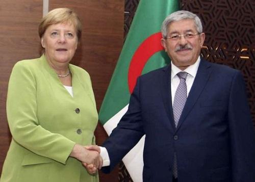 Angela Merkel  et le Premier Ministère algérien, M. Ahmed Ouyahia