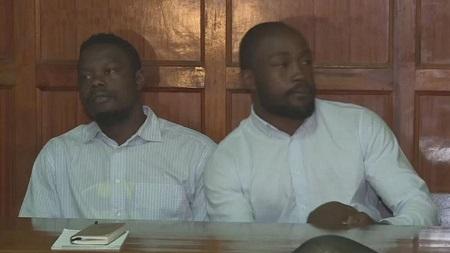 Frank Wanyama et Alex Olaba,  respectivement âgés de 24 et 23 ans, sont condamnés pour des faits qui remontent à l'année dernière