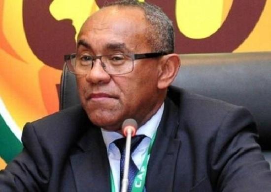 le président de l'instance faîtière du foot africain, le Malgache Ahmad Ahmad