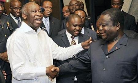 Laurent Gbagbo, Henri Konan Bédié et Guillaume Soro