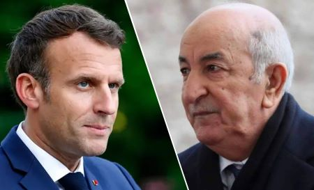 Emmanuel Macron et Abdelmajid Tebboune .. Photo : Illustration