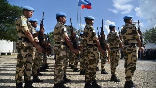 La Minujusth a été déployée en Haïti en octobre 2017. HECTOR RETAMAL / AFP