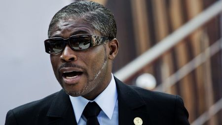Le Vice-président de la Guinée équatoriale Teodoro Nguema Obiang Mangue  : Photo: Jerome Delay/ The Associated Press