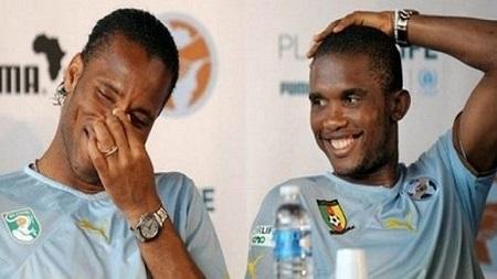 Les anciennes gloires Samuel Eto'o et Didier Drogba