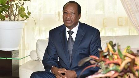 L'ancien président du Burkina Faso, Blaise Compaoré, qui vit exilé en Côte d'Ivoire. © © AFP/Issouf Sanogo