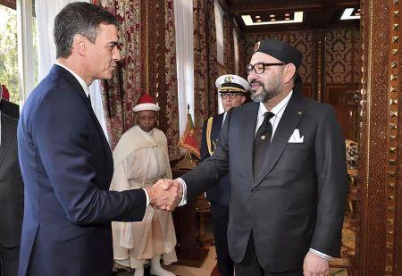 Le Président du Gouvernement d'Espagne, Pedro Sanchez, et S.M. Mohammed VI.