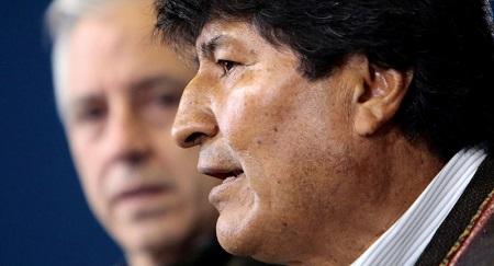 Le Président Evo Morales et le vice-Président Alvaro Garcia Linera ont annoncé ce 10 novembre leur démission.© REUTERS / STRINGER