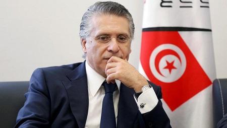 L'homme d'affaires et propriétaire de la chaîne Nessma TV Nabil Karoui, le 2 août 2019. © REUTERS/Zoubeir Souissi/File Photo