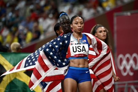 Allyson Felix compte désormais 11 médailles à son palmarès olympique..Photo:AFP