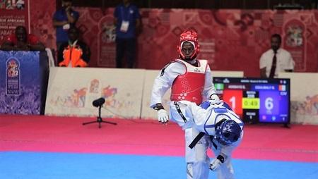Le taekwondo, sport de plus en plus pratiqué sur le continent africain. Photo: Jeux africains