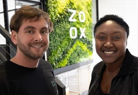 Aicha Sarr Evans, PDG de Zoox et Jesse Levinson, co-fondateur et CTO