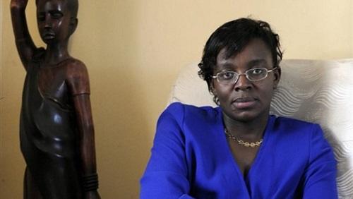 Victoire Ingabire Umuhoza, la présidente du parti rwandais Forces démocratiques unifiées (FDU), le 7 avril 2010. © AFP/Bertrand Guay
