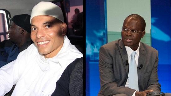 Karim Wade et Khalifa Sall ne pourront tous les deux pas participer à la présidentielle (photos d'archives). © Montage: RFI / AFP Photo/Stringer (g) / CC-BY-SA Skolkovo (d)