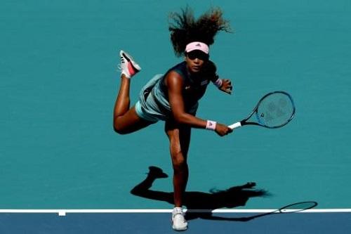 La Japonaise Naomi Osaka lors de son 32e de finale au tournoi de Miami face à la Belge Yanina Wickmqyer, le 22 mars 2019 GETTY IMAGES NORTH AMERICA/AFP/Archives
