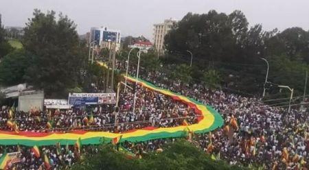 Les manifestants dans les rues d'une dizaine de villes de la région Amhara.