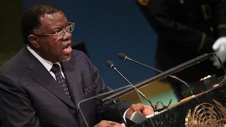 Le président namibien Hage Geingob